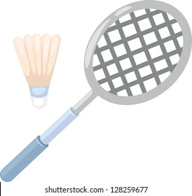 badminton racket . vector