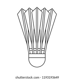 Badminton shuttlecock icon. Outline badminton shuttlecock vector icon for web design isolated on white background
