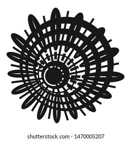 Badminton shuttlecock icon. Simple illustration of badminton shuttlecock vector icon for web design isolated on white background