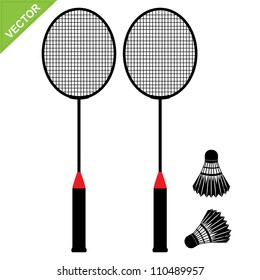 Badminton silhouettes vector