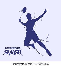 badminton smash splash silhouette