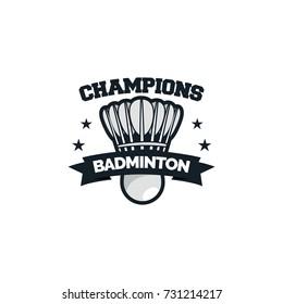 Badminton sport logo & symbol vector