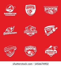 Badminton sport logo template vector. Sport club logo concept