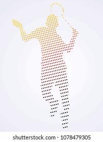 badminton sport sillhouette