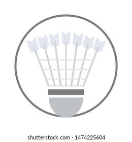 Badminton tournament icon. flat illustration of Badminton tournament vector icon. Badminton tournament sign symbol