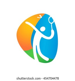 rio badminton icon images stock photos vectors shutterstock