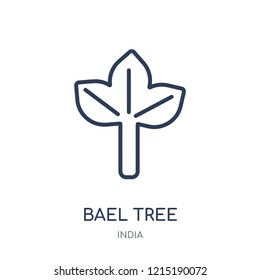 Bael tree icon. Bael tree linear symbol design from India collection. Simple outline element vector illustration on white background.