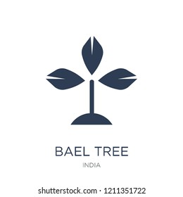 Bael tree icon. Trendy flat vector Bael tree icon on white background from india collection, vector illustration can be use for web and mobile, eps10