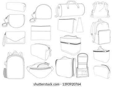 Bag Collection design template