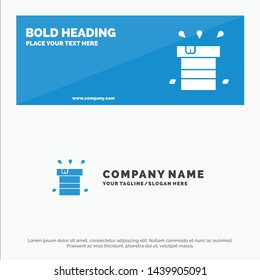Bag, Dry, Miscellaneous, Resistant, Water SOlid Icon Website Banner and Business Logo Template