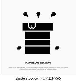 Bag, Dry, Miscellaneous, Resistant, Water solid Glyph Icon vector