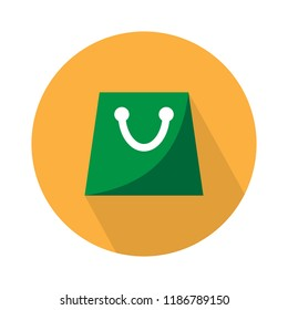 bag flat icon - vector shopping bag. retail store shopping bag