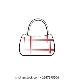 e68ccc060 bag, handbag, leather, purse 2 colored line icon. Simple colored element  illustration
