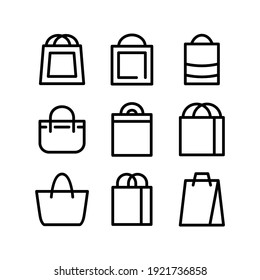 bag icon or logo isolated sign symbol vector illustration - Collection of high quality black style vector icons