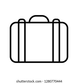 Bag icon. Single high quality bag related icon. Isolated bag symbols in white background. Graphic icons element