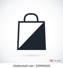 bag icon, stock vector illustration flat design style