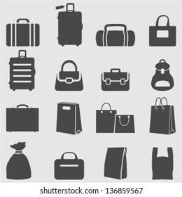 Bag icons set.Vector