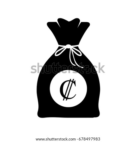 Bag Money Costa Rican Colon Logo Stock Vector Royalty Free