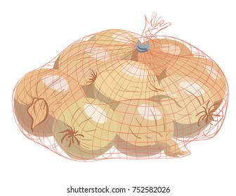 bag of onions illustration