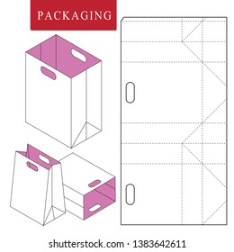 Bag packaging template for wearing.