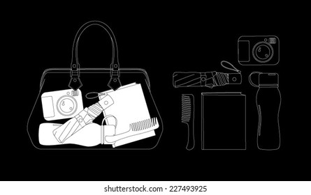 Bag scanned under x-ray