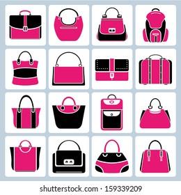 bag set, pink theme
