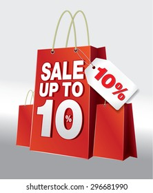 Bag Shoping SALE 10% Red White