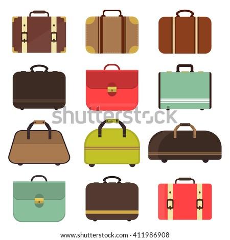 bag types isolated travel case man のベクター画像素材 ロイヤリティ