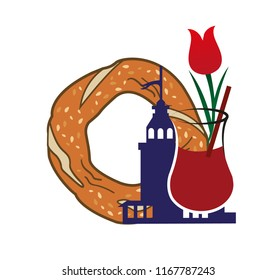 bagel illustration vector