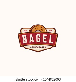 Bagel Restaurant Logo vector illustrator  template