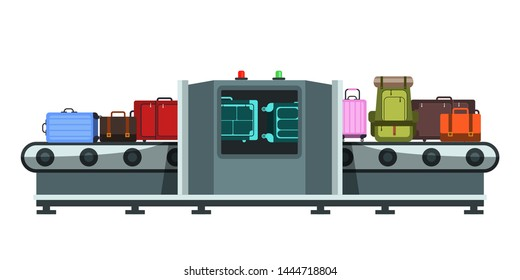 Jew Detector: Airport Security Checkpoint Bag Scanner Stock Vectors