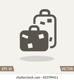 Baggage icon, travel bags. Vector illustration for web and commercial use.
