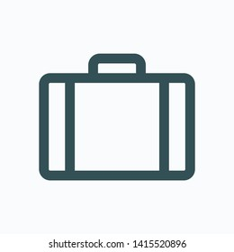 Baggage isolated icon, travel bag linear vector icon