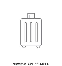 Baggage / luggage linear style icon. Contour concept design. Vector black thin outline drawing, isolated on white background