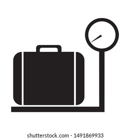baggage scale icon vector on white background, baggage scale trendy filled icons from Airport terminal collection, baggage scale simple element illustration