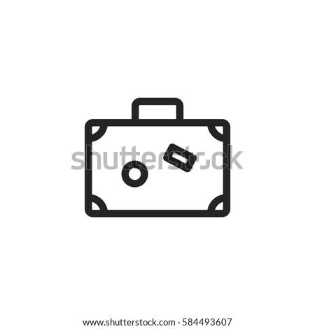 7ccf290474 Baggage Vector Icon Travel Bag Symbol Stock Vector (Royalty Free ...