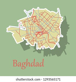 baghdad map Images, Stock Photos & Vectors | Shutterstock