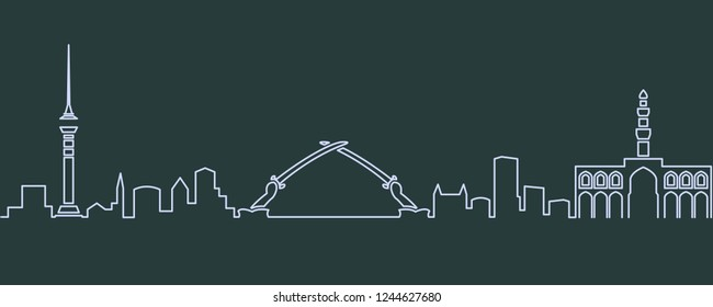 Baghdad Single Line Skyline