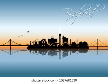 Baghdad skyline - Iraq - vector illustration