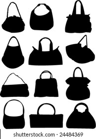 bags collection-vector