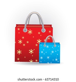 bags with snowflakes