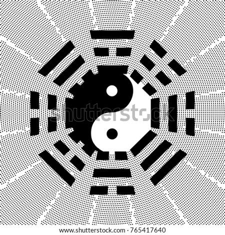 Bagua Symbol Taoism Daoism 8 Trigrams Stock Vector Royalty Free