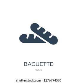 baguette icon vector on white background, baguette trendy filled icons from Food collection, baguette vector illustration