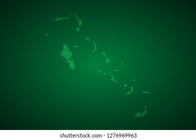 Bahamas map, internet line, connected points. Bahamas map with dot .Vector illustration Eps 10.