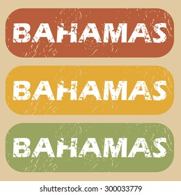 Bahamas on colored background