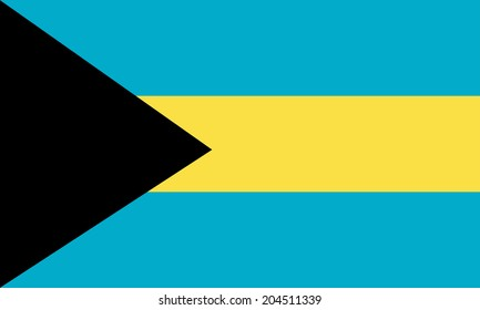 Bahamas vector flag isolated on background.