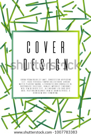 Bahaus Coverage Corporate Style Text Frame Stock Vector (Royalty ...