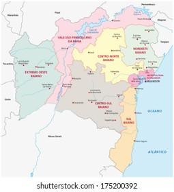 bahia administrative map