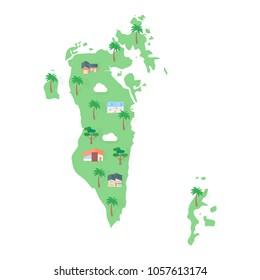 Bahrain Asian map real estate