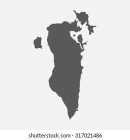 Bahrain country border map